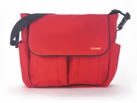 skip hop dash diaper bag - red