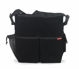 skip hop diaper bag - black corduroy
