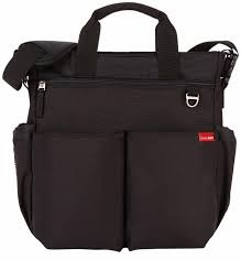 skip hop duo diaper bag - black