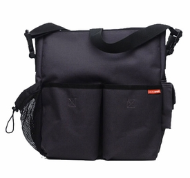 skip hop duo diaper bag - charcoal