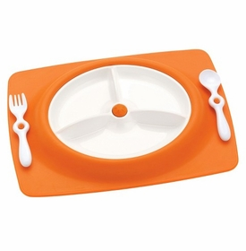 skip hop feeding mat - orange