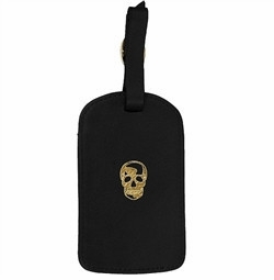 skull amelia luggage tag