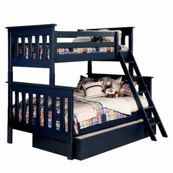 slatted bunk bed, twin over full