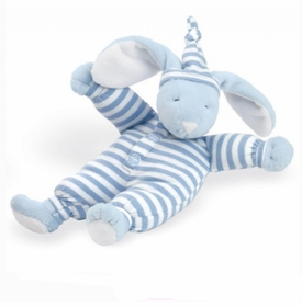 "sleepyhead blue bunny 8"" rattle by north american bear"