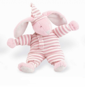 "sleepyhead bunny 8"" pink rattle by north american bear"