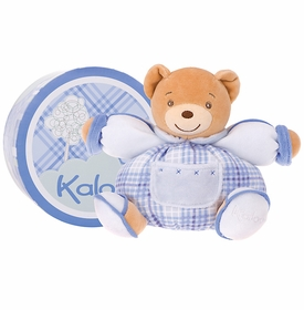 small chubby bear blue or pink gingham