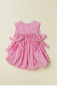 Smocked Bubble with Side Ties in Pink