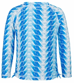 snapperrock blue feathers ls rash top