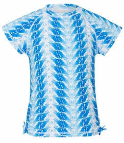 snapperrock blue feathers ss rash top
