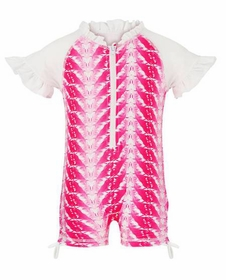 snapperrock fuchsia feathers ss sunsuit