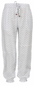 snapperrock grey chevron beach pant