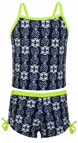 snapperrock navy citron pineapple tankini