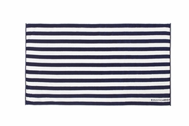 snapperrock navy & white striped towel