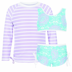 snapperrock surf medallion sports set with ls rash top