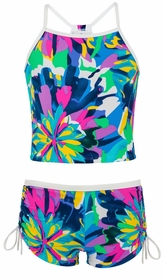 snapperrock tropical neon tankini