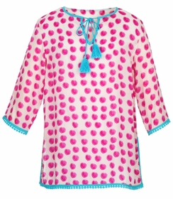snapperrock watercolour spots kaftan