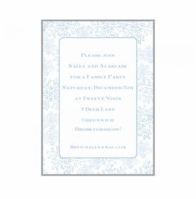snow shower invitation cards