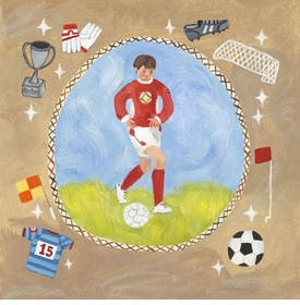 soccer star - boy wall art