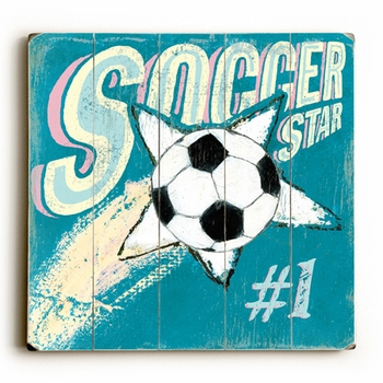 soccer star vintage sign