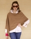solid color cashmere poncho