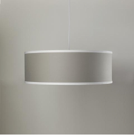 solid shallow cylinder light - taupe