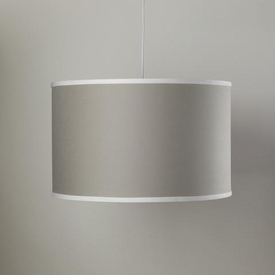 solid taupe single cylinder light
