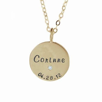 solo 14k gold family charm necklace