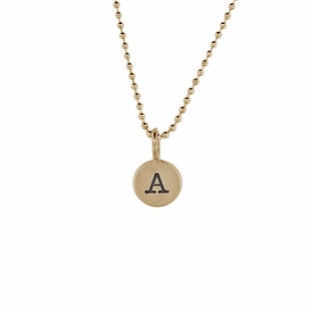 solo tiny initial charm necklace