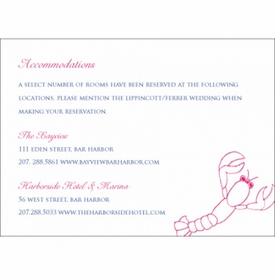 sophie & andrew accommodations card