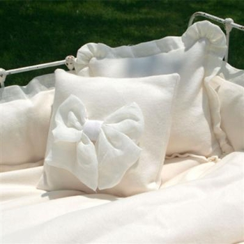 sorrento organic cotton crib bedding (custom colors available)