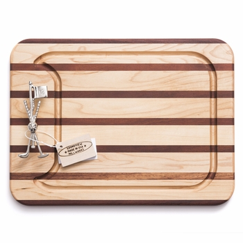 soundview millworks golf clubs and flag appetizer handle board