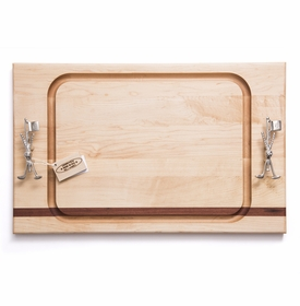 soundview millworks golf clubs and flag stick steak handle board