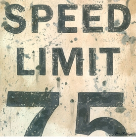 speed limit  wall art - unavailable