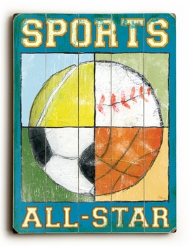 sports all star vintage sign