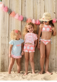 spotty fish ruffle swim set