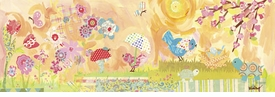 spring birdies wall art