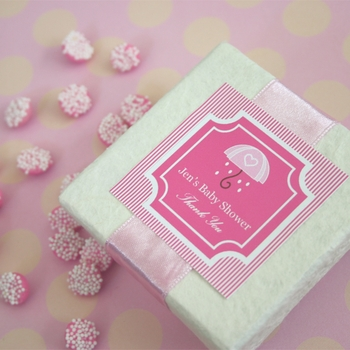 square baby shower labels & tags