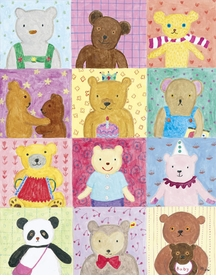 square bears wall art canvas reproduction