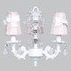 stacked glass ball bright idea chandelier - pink sconce shades