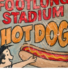 stadium dog wall art