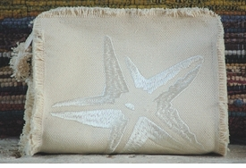 starfish make up bag - small clutch by queen bea studio