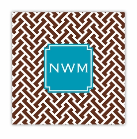 stella chocolate square paper coaster<br>set of 50