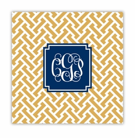 stella gold square paper coaster<br>set of 50