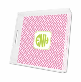 stella pink lucite tray - square