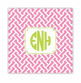 stella pink square paper coaster<br>set of 50