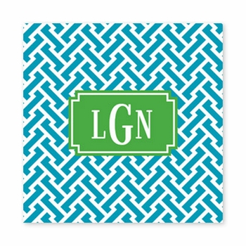 stella turquoise square paper coaster<br>set of 50