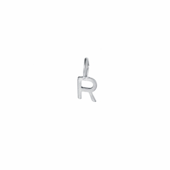 sterling silver 5mm letter charm