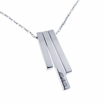 sterling silver bar charm necklace