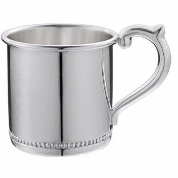 sterling silver beaded baby cup