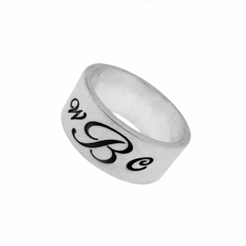 sterling silver duck band ring - 8mm